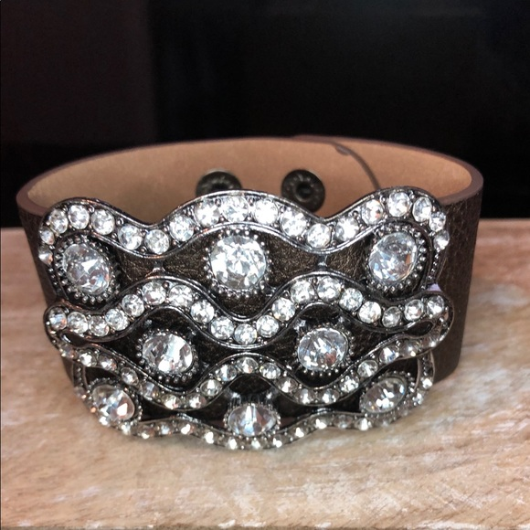 plunder jewelry bling bling snap cuff poshmark
